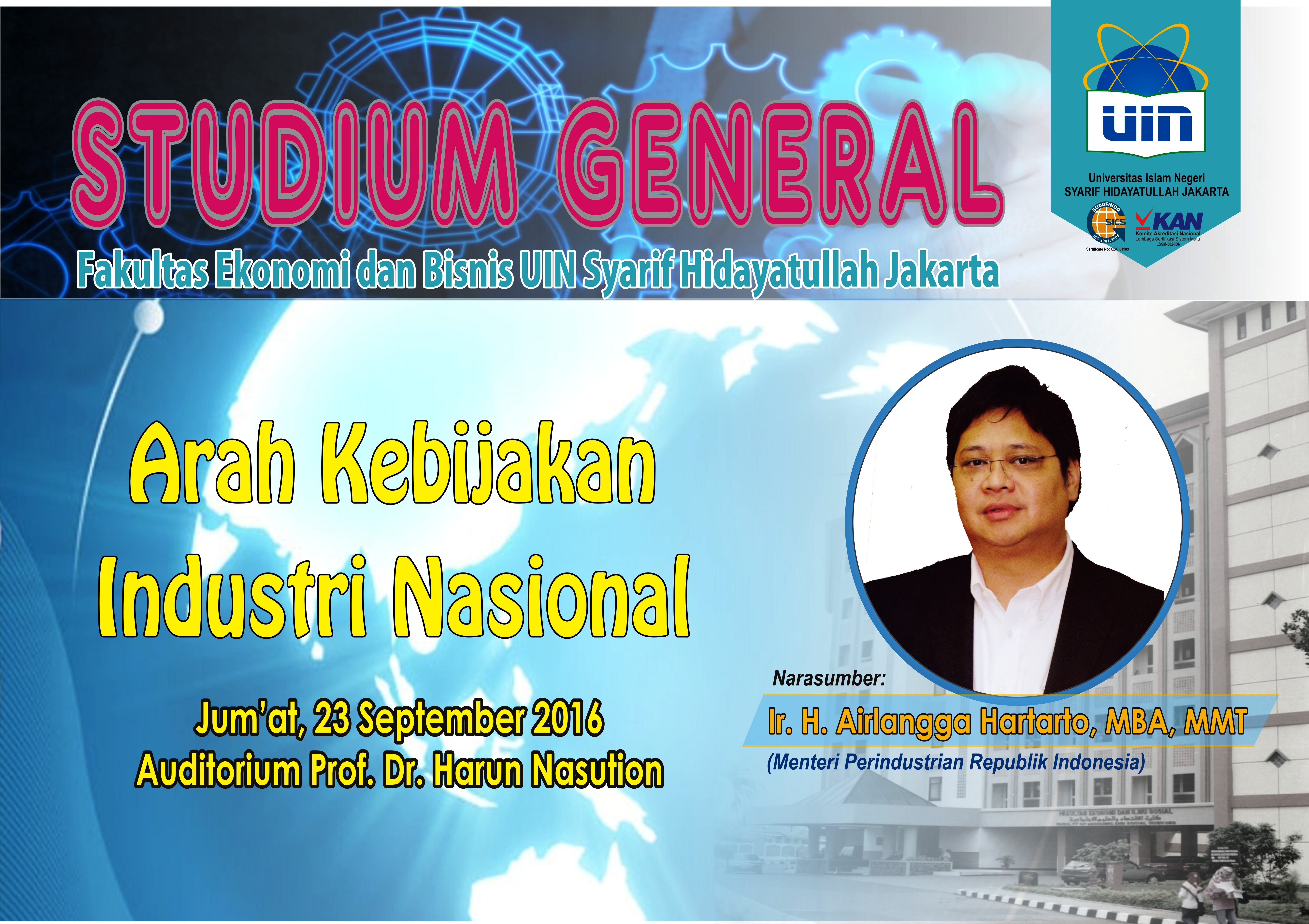 Industry Minister RI Presenter at the Studium General