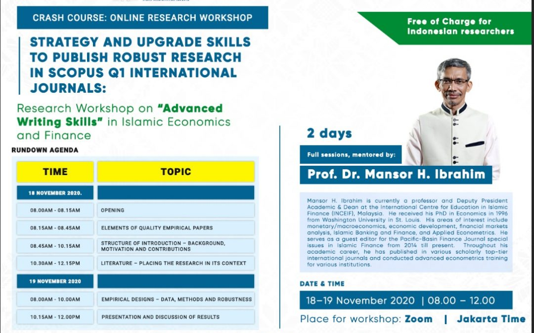 Online Research Workshop: Strategy and Upgraded Skills to Publish Robust Research in Scopus Q1 International Journals